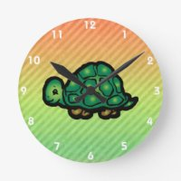 Tortoise Shell Wall Clocks | Zazzle