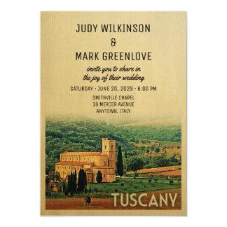 Tuscany Wedding Invitation Vine Italy