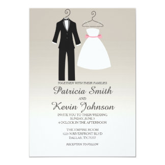 Tuxedo And Dress Wedding Card