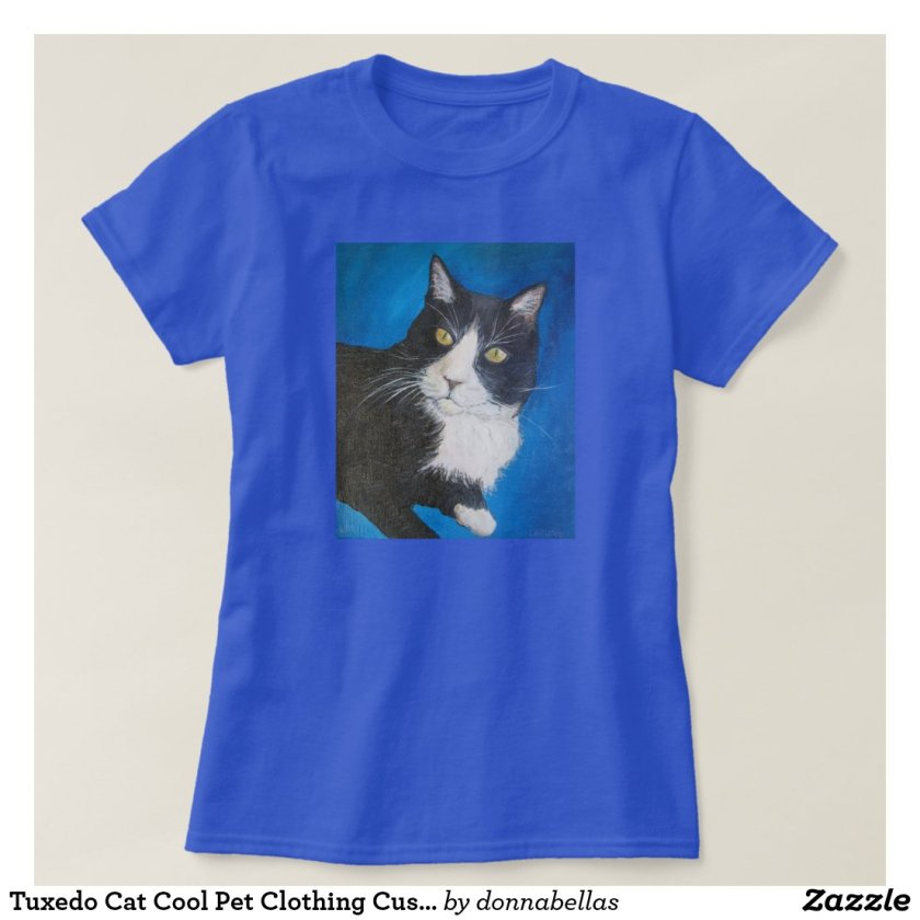Tuxedo Cat Cool Pet Clothing Custom Art Shirt
