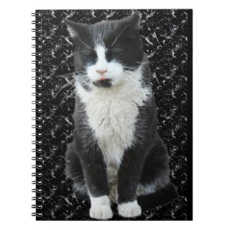 Tuxedo Cat Tongue Notebook