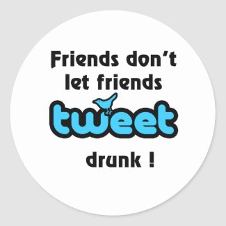 Tweet drunk sticker