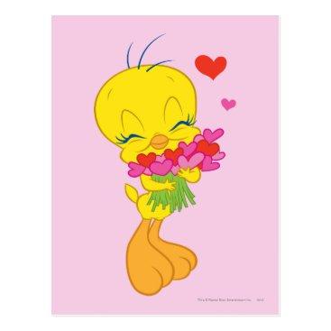 Tweety Hearts Postcard