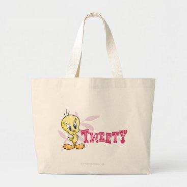 """Tweety """"Tweety"""" Pink Large Tote Bag"""