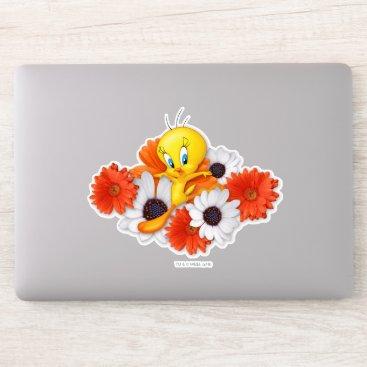 Tweety With Daisies Sticker