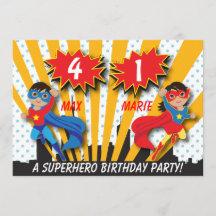 superhero and princess party