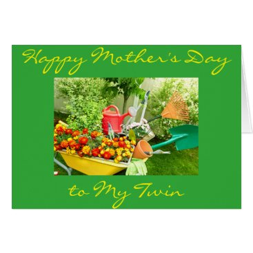 TWIN MOTHER'S DAY-GARDENER'S DELIGHT CARD