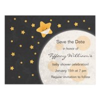 Twinkle Little Star Baby Shower Save the Date Postcard ...