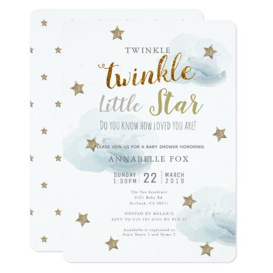 Le Little Star Cloud Baby Shower Invitation