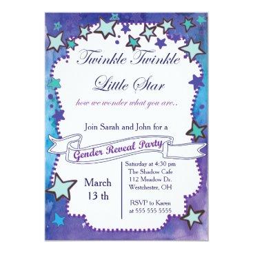 Twinkle Little Star Gender Reveal Card