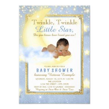 Twinkle Twinkle Little Star Ethnic Boy Baby Shower Invitation