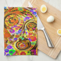 Twisted Abstract Design Towel