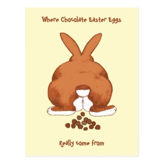 Twisted Easter Bunny Postcard