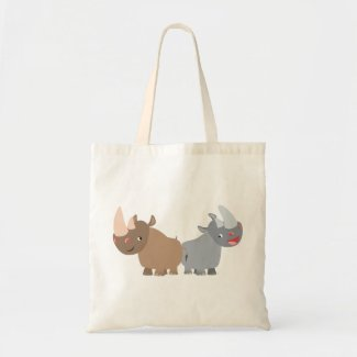 Two Cartoon Rhinos Bag bag