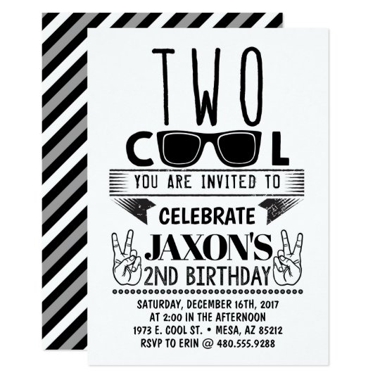 cool birthday invites