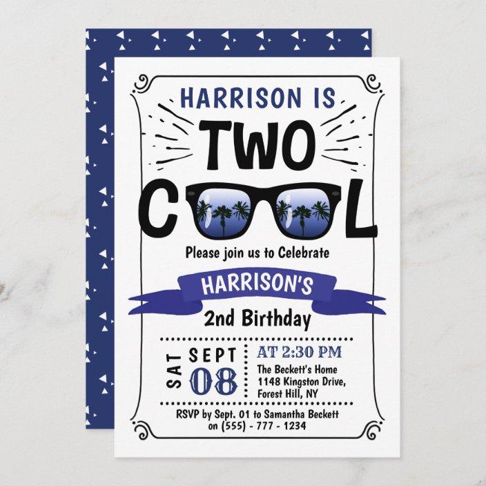 two cool boys 2nd birthday invitations zazzle com