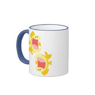 Two Cute Cartoon Fish Mug mug