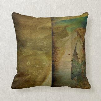 Two Delicate Screens Throw Pillows