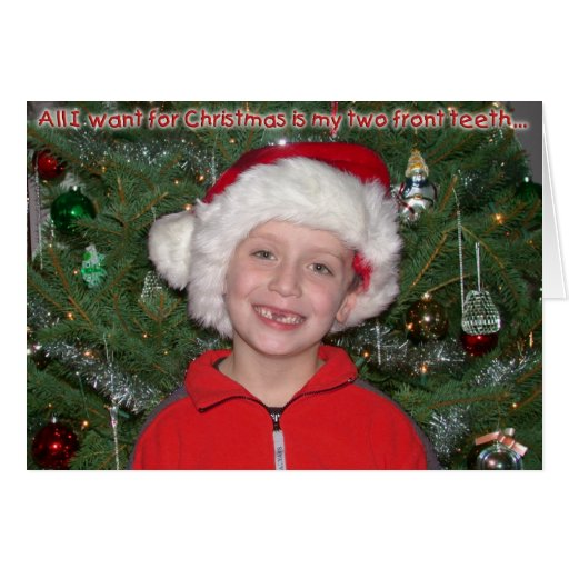 Two Front Teeth Christmas Card Zazzle