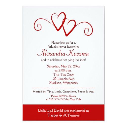 Heart Bridal Shower Invitations