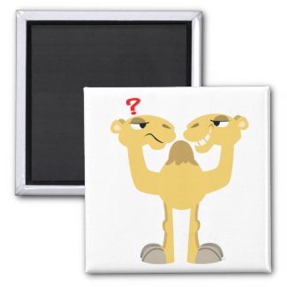 Two sides of the Same Cartoon Camel Magnet magnet