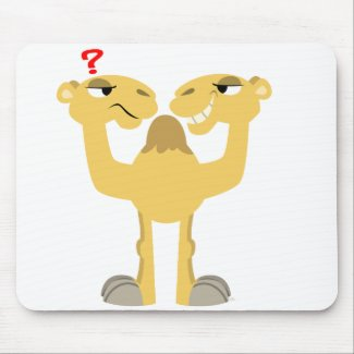 Two sides of the Same Cartoon Camel Mousepad mousepad