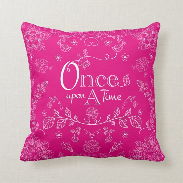 Two Toned Once Upon A Time Throw Pillow