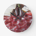 Typical South Tyrolean snack Round Wall Clocks