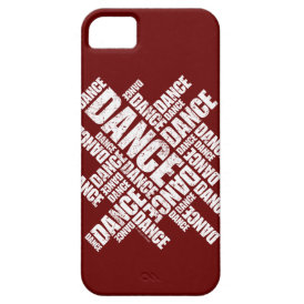 Typographic Dance (Distressed) iPhone 5 case