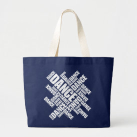 Typographic Dance (Distressed) Large Tote Bag