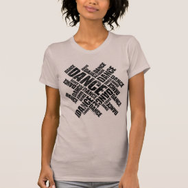 Typographic Dance (Distressed) T-Shirt