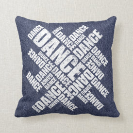 Typographic Dance (Distressed) Throw Pillow
