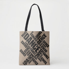 Typographic Dance (Distressed) Tote Bag