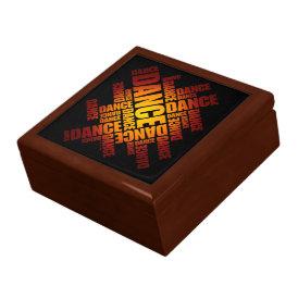 Typographic Dance (Fire) Jewelry Box