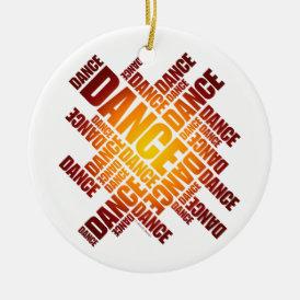 Typographic Dance (Fire) ornament