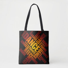 Typographic Dance (Fire) Tote Bag