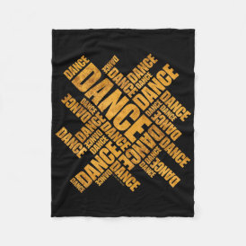 Typographic Dance Fleece Blanket