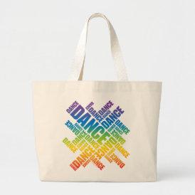 Typographic Dance (Spectrum) Large Tote Bag