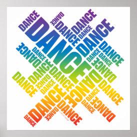 Typographic Dance (Spectrum) poster