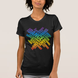 Typographic Dance (Spectrum) T-Shirt