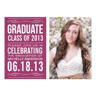 Typography Graduation Invitation Template