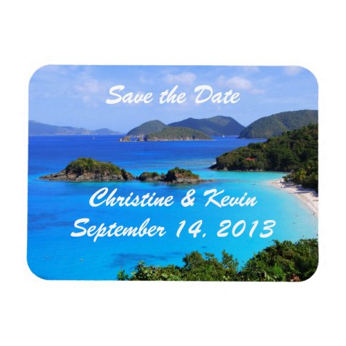 U.S. Virgin Islands Save the Date Magnet premiumfleximagnet