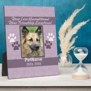 Unconditional Love Pet Sympathy Custom Plaque