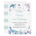 Under the Sea Ocean Birthday Party Invitation