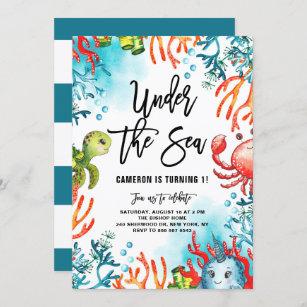 under the sea birthday invitations zazzle
