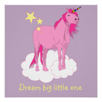 Unicorn artwork for baby's nursery poster