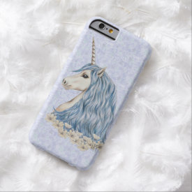 Unicorn Blue Hair Barely There iPhone 6 Case