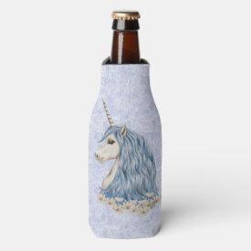 Unicorn Blue Hair Bottle Cooler