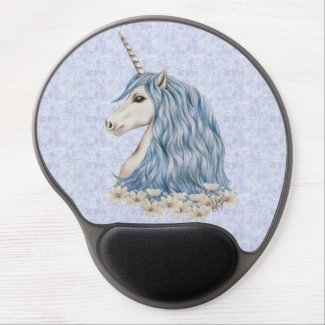 Unicorn Blue Hair Gel Mouse Pad
