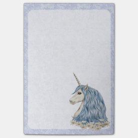 Unicorn Blue Hair Post-it® Notes